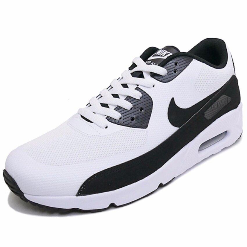 เช็คราคา Nike รองเท้าแฟชั่นผู้ชาย Nike Air Max 90 Ultra 2.0 Essential 875695-100 (White/White/Black)