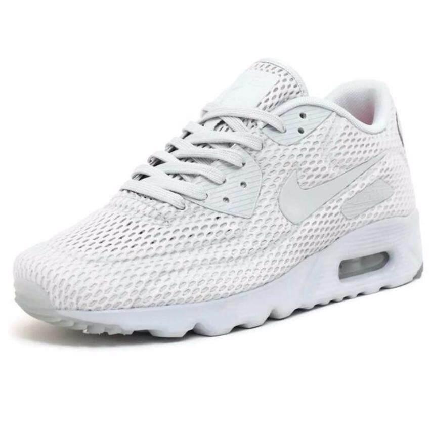 Nike รองเท้าแฟชั่นผู้ชาย Nike Air Max 90 Ultra BR 725222-012 (Pure Platinum)