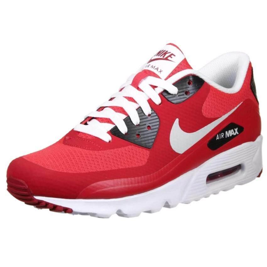 Nike รองเท้าแฟชั่นผู้ชาย Nike Air Max 90 Ultra Essential 819474-600 (Action Red/Pure Platinum)