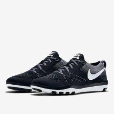 Nike รองเท้าฟิตเนส รองเท้าลำลอง รองเท้าวิ่ง รองเท้าเที่ยว NIKE Free Focus Flyknit Training ลิขสิทธิ์แท้ สีดำเทาขาว