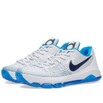 NIKE รองเท้าบาส ฟิตเนส NIKE KD8 ลิขสิทธิ์แท้ สี WHITE/PHOTO BLUE/MIDNIGHT NAVY
