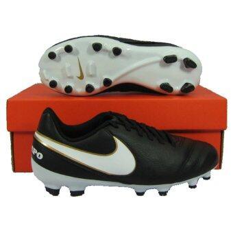 Nikeรองเท้ากีฬา รองเท้าสตั๊ดเด็ก NIKE 819186-010 JR TIEMPO LEGEND VI FG ดำขาว เบอร์ US 3Y(Int: One size)