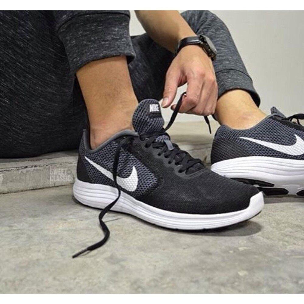 ยี่ห้อนี้ดีไหม  จันทบุรี NIKE รองเท้าผ้าใบ ไนกี้ รองเท้าวิ่ง Run Shoe Revolution (Black) ++ของแท้100% พร้อมส่ง ส่งด่วน kerry++