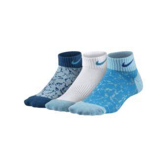 Nike Socks ถุงเท้าบาส ถุงเท้าบอล ถุงเท้าหนา สำหรับใส่เล่นกีฬา สำหรับลำลอง แพ็ค 3 คู่ Nike Graphic Lightweight Low-Cut