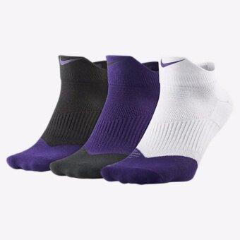 Nike Socks ถุงเท้าบาส ถุงเท้าบอล ถุงเท้าหนา สำหรับใส่เล่นกีฬา สำหรับลำลอง แพ็ค 3 คู่ Nike Logo Dri-fit Cotton Lightweight