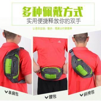 กระเป๋าคาดเอว กระเป๋าใส่ของ สำหรับเดินทางท่องเที่ยว 8777 สีเขียว