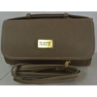 กระเป๋าถือคล้องแขน มีสายสะพายถอดได้ No.0612 สีน้ำตาล