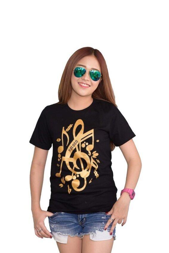 NOLOGO เสื้อยืด รุ่น ตัวโน๊ต (สีดำ)(Int:S)