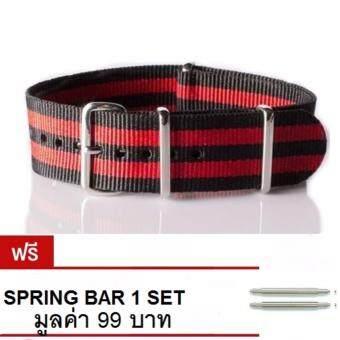 ซื้อ/ขาย NT Watch Shop สายนาฬิกา สายนาโต้ NATO STRAP James Bond - สีดำ/แดง