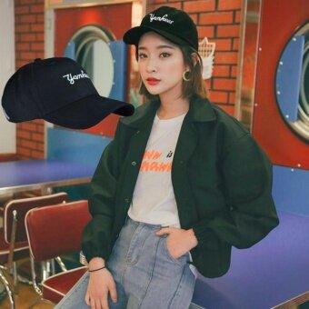 NuChon Hat หมวกแก๊ป สีดำ รุ่น Yamkees NY M CAP 88898 (Black)