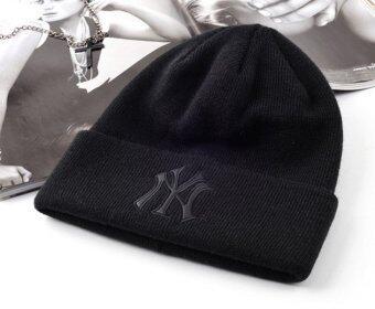 หมวกไหมพรม NY (ดำ)