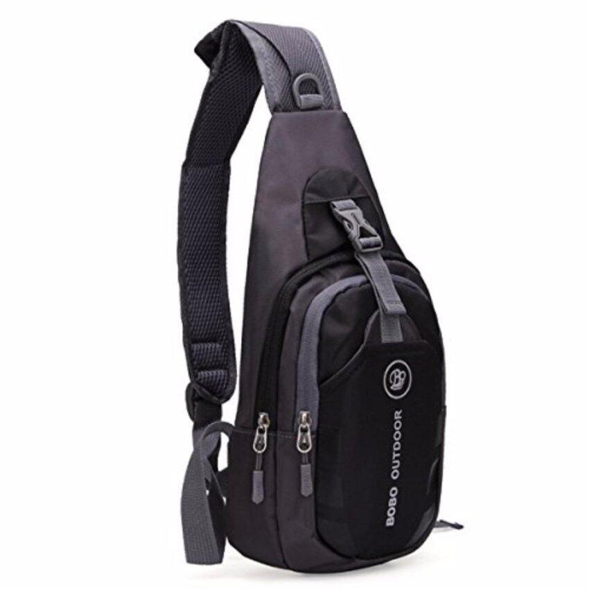 กระเป๋าสะพายข้าง คาดอก เอนกประสงค์ ผ้า Nylon สีฟ้า/ดำ (Blue/Black)