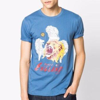 ประเทศไทย OASIS เสื้อยืด T-Shirt คอกลมแฟชั่น รุ่น MTFFF1175-2-ENG สีฟ้า