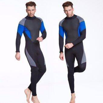 Ocean NEW Men conjoined Diving suit neoprene rubber 3mm semi-dry suit(Black) - intl
