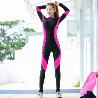 Ocean Sports Women Wetsuits Conjoined Diving Jellyfish suit Swimsuit(Rose) - intl