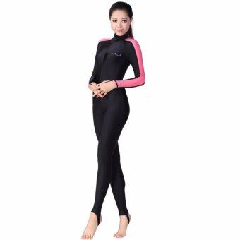 Ocean Unisex conjoined Diving suit Prevent bask in clothes (Pink) - intl