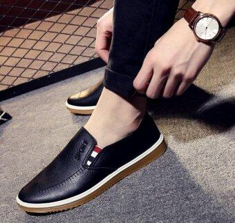 OJ Men's business casual shoes are used in English pu shoes - intl