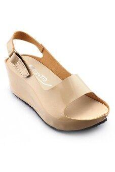 Onto รองเท้าแตะส้นเตารีด รุ่นLP323 (cream)
