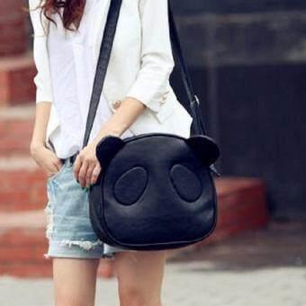 ต้องการขาย Open กระเป๋าสะพายข้าง กระเป๋าทรงกลมรูปหมีแพนด้า รุ่น088 (สีดำ)