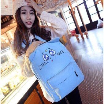 น่ารักนักเรียนมัธยม Orecchiette กระเป๋าสะพายท่องเที่ยวไนลอนกระเป๋านักเรียน (สีม่วง)