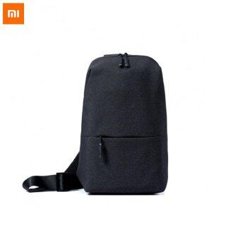 Original Xiaomi Backpack urban leisure chest pack For Men Women Small Size Shoulder Type Unisex Rucksack for camera DVD phones - Black - intl