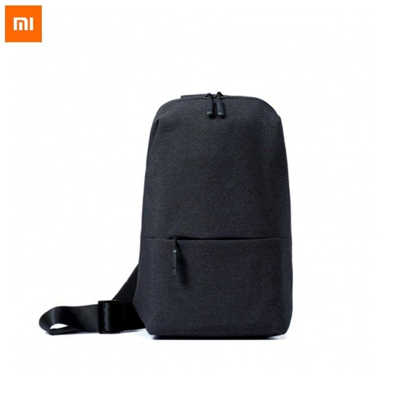 Original Xiaomi Backpack urban leisure chest pack For Men Women Small Size Shoulder Type Unisex Rucksack for camera DVD phones - Black - intl