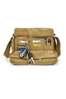 ประกาศขาย กระเป๋าสะพายข้างผู้ชาย ผ้า CANVAS รุ่น NB700 - สีกากีอมเขียว