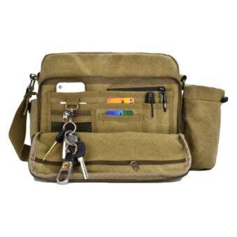 กระเป๋าสะพายข้างผู้ชาย ผ้า CANVAS รุ่น NB708 ( สีกากี )
