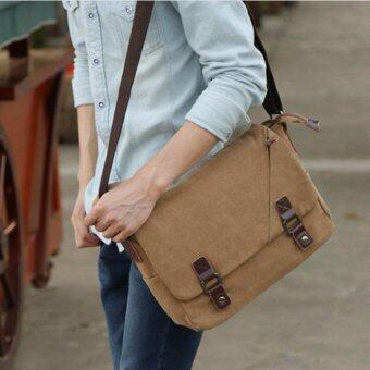 กระเป๋าสะพายข้าง ผ้า CANVAS สไตล์วัยรุ่น รุ่น UP128 (สีกากี)