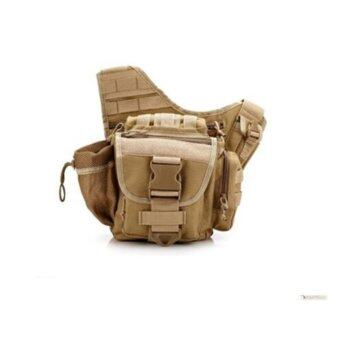 Outdoor photography package military fans outdoor sports package camera pack saddle bag(Brown) - intl