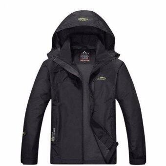 Outdoor Sport Jacket แจ็คเก็ตเดินป่ากันน้ำ กันลม กันUV รุ่น S15 (สีดำ )