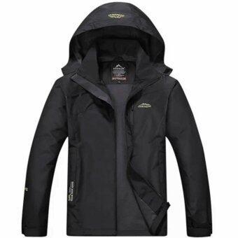 เสื้อแจ็คเก๊ต Outdoor Sport STL กันน้ำ กันลม สำหรับท่องเที่ยว เดินป่า ตั้งแคมป์ สำหรับผู้ชาย รุ่น S15 (สีดำ)