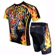 Paladin Men Summer Cycling Jersey and Shorts Set Short Sleeve Sports Clothing