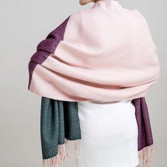 ผ้าคลุม PALIO ผ้าคุมไหล่ ผ้าพันคอ สี(Pink hit color)