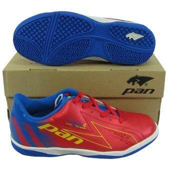รองเท้ากีฬา รองเท้าฟุตซอลเด็ก PAN 14J6 VYRUS 4 JR แดงน้ำเงิน