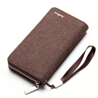 ย้อนยุคหนุ่มกระเป๋าสตางค์ยาวผ้าใบคลัช (PARK'S สี)