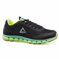 PEAK รองเท้า วิ่ง มาราธอน Marathon ระบายอากาศ พีค Running Shoe รุ่น E53998H - Black/Green