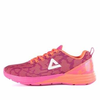 ประเทศไทย PEAK รองเท้า วิ่ง มาราธอน Marathon ระบายอากาศ พีค Running Shoe รุ่น E54012H Rose/Pink