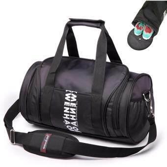 Peimm Modello 23 L Fitness Sports Bag กระเป๋ากีฬา กระเป๋าฟิตเนต กระเป๋าออกกำลังกาย กระเป๋าใส่รองเท้า กันน้ำ มัลติฟังก์ชั่น (สีดำ)