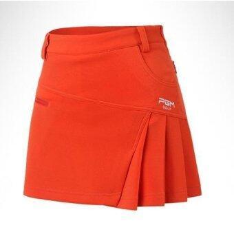PGM BrandLady Golf Skirt Pant Girls Golf Leisure Sport Skirt Pants Orange - intl