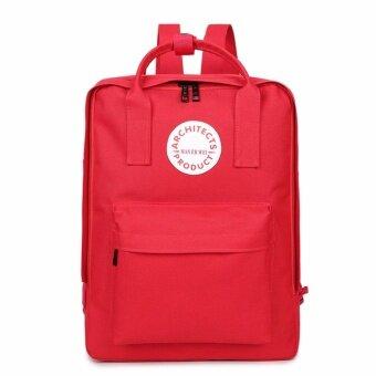 PHC กระเป๋าสะพาย / เป้สะพายหลัง / กระเป๋า เป้นักเรียน / ไซส์ M / สีแดง