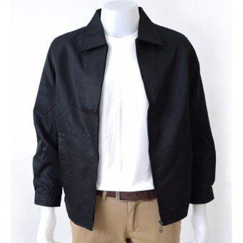 POLOMAKER เสื้อแจ็คเก็ต คอปกJS1101 สีดำ (Male)