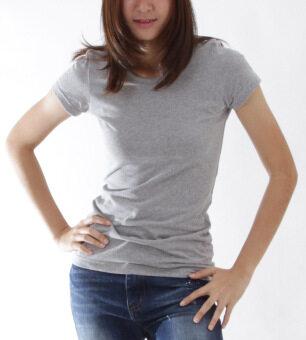 POLOMAKER เสื้อยืด MicroBrush TM15 สีเทาท๊อปดราย (Female) - 3
