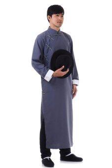 Princess of Asia ชุดเจ้าพ่อเซี่ยงไฮ้ ชุดยิปมัน ชุดกังฟูยาว (สีเทา)