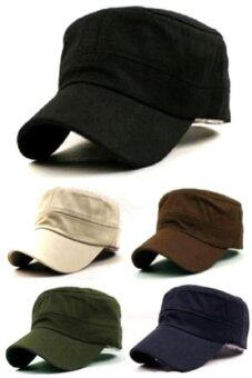 บ้านไอร์หมวกวินเทจคลาสสิคเพศนักเรียนโรงเรียนนายร้อยทหารบกหมวกธรรมดาหมวกสายตรวจ(สีดำ)