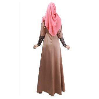 ผู้หญิงมุสลิมแฟชั่นแขนยาวแต่งตัว (กาแฟ)