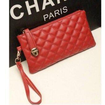 กระเป๋าสตางค์ผู้หญิง หนังอย่างดี สีแดง