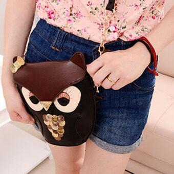 ผู้หญิงกระเป๋าสะพายนกฮูกสีปรุงแต่งรูปแบบ - 4