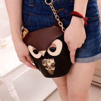 ผู้หญิงกระเป๋าสะพายนกฮูกสีปรุงแต่งรูปแบบ - 3