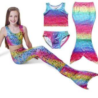 ภาพชุดว่ายน้ำเด็กเงือกหญ้าคาบิกินี่ชุดว่ายน้ำรูปทรงรูปแบบ (หลายสี)